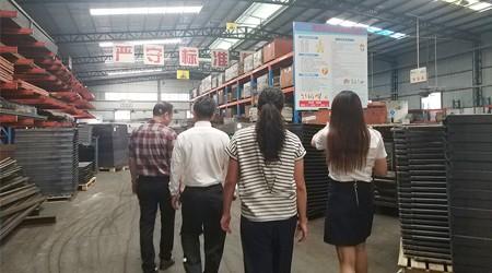 欢迎日本客户到我们易达参观自动化仓库货架案例及工厂 [易达货架]