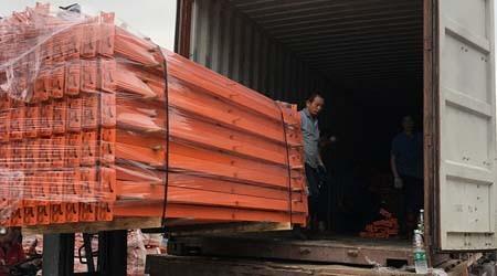 高明阁楼平台货架装柜,发往澳洲【易达货架】