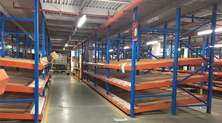 中山仓储货架批发厂家流利式货架适合什么货物存储?【易达货架】