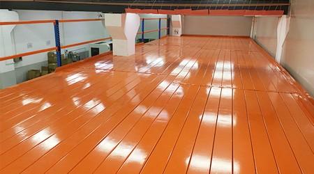 广州阁楼平台货架铺钢板的优势