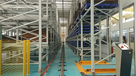 惠州仓储货架厂产品生产流程[易达货架]
