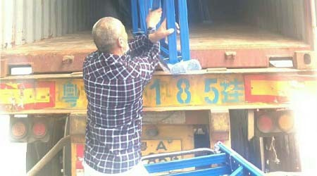 出口澳大利亚的深圳大型仓库货架装柜【易达货架】