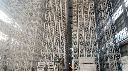 广州铜材卷料货架可以实现自动化存储吗?【易达货架】