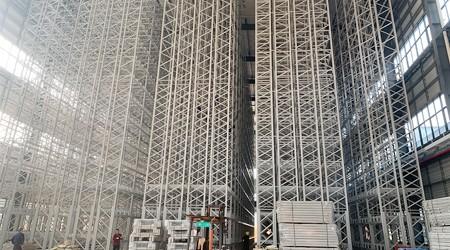 国内智能库房高位货架最高做多高?【易达货架】