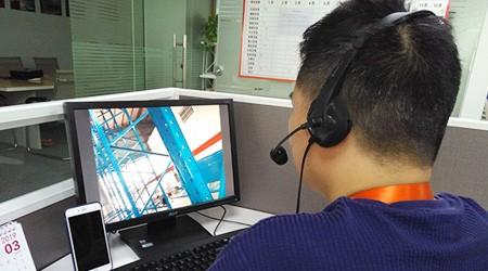 易达工程师视频指导台湾客户安装重型仓库货架