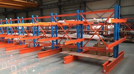 圆钢悬臂式仓储货架的制作材料及作用