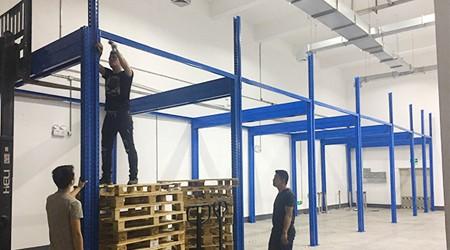 喜讯|百奥泰公司第一期广州仓储货架已进入安装阶段