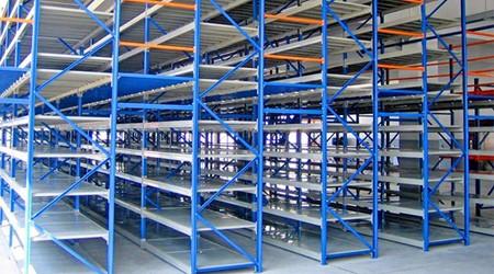 阁楼式仓库货架厂家建议化妆品仓库使用这些库房货架
