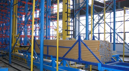 6米长管材可以存进重型立体仓库货架吗?【易达货架】