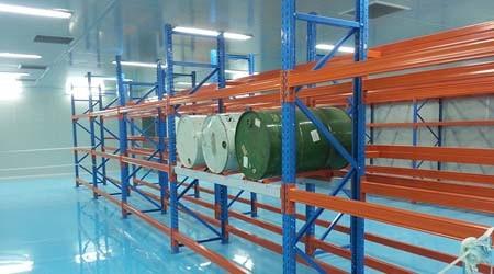 仓储货架使用分离式底角的仓库货架制造厂家[易达货架]