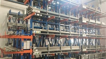 增城制作货架工厂简述摆放圆钢适用的货架类型【易达货架】