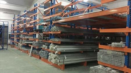 麻涌悬臂式货架,管材型材存储专用货架【易达货架】