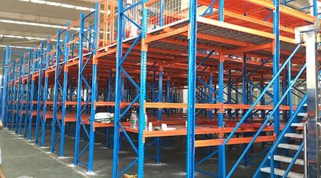库房仓储组合货架阁楼货架铺木板能通过消防吗?【易达货架】