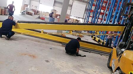 易达惠州仓储货架厂家培训立体仓库堆垛机的安装