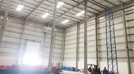 出口阿联酋的广州仓储货架自动化设备装柜发货啦