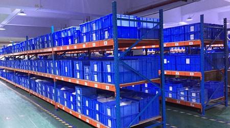 料箱适合用哪种佛山大型仓储货架存储?【易达货架】