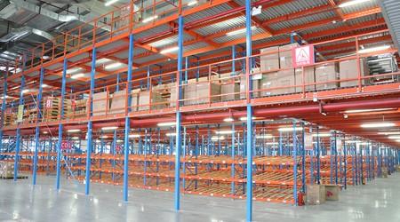 货架立柱变形是不是因为货物超重?江门仓储阁楼货架厂解析【易达货架】