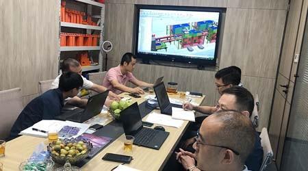 汕头客户来易达公司洽谈深圳智能仓储货架方案【易达货架】