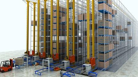 堆垛机物流自动化仓库货架的好处【易达货架】