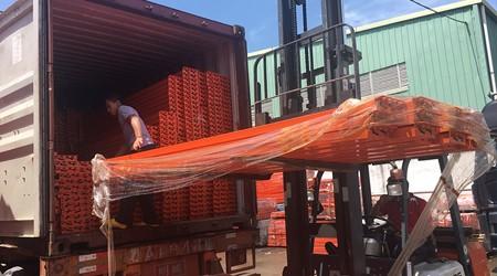 易达重型库房货架厂家之油桶货架出口文莱 [易达货架]