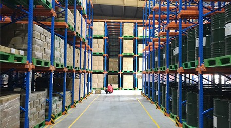 大型物流仓储货架公司广州阁楼平台货架的作用【易达货架】